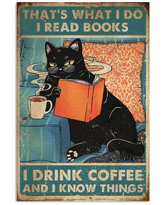 Crazy Cat Lady, Crazy Cats, Wallpaper Bonitos, Books To Read, My Books, Black Cat Art, Cat Posters, Animal Posters, Cat Love