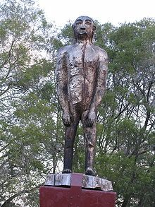 QLD - Kilcoy - Statue of a Yowie - The Yowie is a mythical creature (like the Sasquatch/Bigfoot or Yeti), reputed to live in the Australian wilderness. The Pilliga Forest, near where I live, is touted as it's home hereabouts in NSW. List Of Cryptids, Bigfoot Sightings, Mysterious Universe, Bigfoot Sasquatch, Loch Ness Monster, Cryptozoology, Urban Legends, Mythical Creatures, Mythology