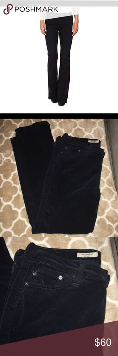 AG//the ballad slim boot corduroy blue 32R in EUC the softest pants ever! dark blue almost black Ag Adriano Goldschmied Jeans