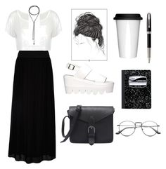 """""""Monochrome Boho / Hipster look"""" by lizvelasquezz on Polyvore featuring moda, Hallhuber, YES, Minimal, Mead y Parker"""