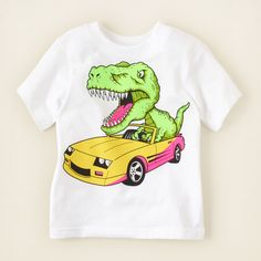 baby boy - graphic tees - rex car graphic tee | Childrens Clothing | Kids Clothes | The Childrens Place