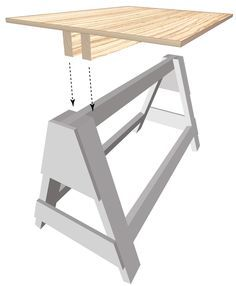 folding sawhorse - Google Search