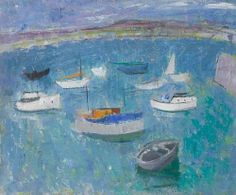 Anne Redpath, Boats, verso Brittany