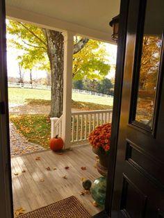 Fall front door view