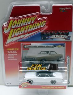 1:64 JOHNNY LIGHTNING MUSCLE CAR U.S.A. RELEASE 1A - 1967 CHEVY CHEVELLE MALIBU #JohnnyLightning #Chevrolet