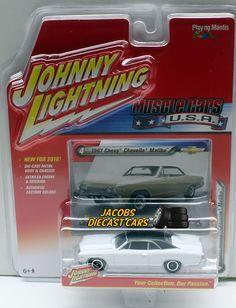 1:64 JOHNNY LIGHTNING MUSCLE CAR U.S.A. RELEASE 1A - 1967 CHEVY CHEVELLE MALIBU #JohnnyLightning #Chevrolet