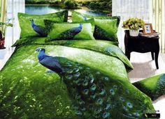 peacock feather bedding