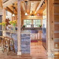 Give your dream log cabin an even more realistic look and feel with Faux Stone!