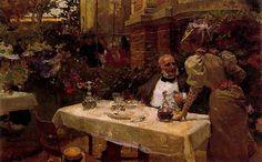 Café de Paris. 1881. 26 x 41 cm. Colección particular. Obra de Joaquín Sorolla