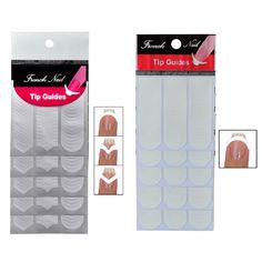 10 Packs Decals French Nail art Stickers Manicure Tips Guide Nails Decoration Form Finger Guides DIY Beauty Nail Tools