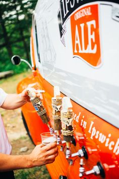 Off-Beat Wedding, beer truck, skateboarding and a tatooed bride. Aw yeah.
