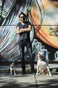 berlin doggystyle streetstyle american bulldog boston terrier graffiti tattoos
