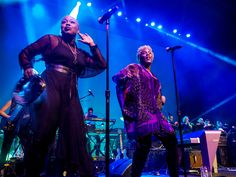 Shelby J & Liv Warfield perform with New Power Generation in the Iconic Soundstage at Paisley Park during Celebration 2017. [Photo credit: Paisley Park Studios / Steve Parke]