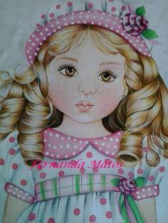 Pintura em tecido de bonecas para fazer com perninha