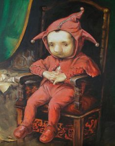 Chibi-styled classic masterpieces painting series by Kasia Slowianska