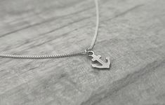 Tiny Necklace, Simple Necklace, Sterling Silver Necklaces, Silver Jewelry, Anchor Charm, Bridesmaid Accessories, Resin Pendant, Organza Bags, Jewelry Collection