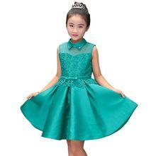 Nowy Wysokiej jakości koronki dziecko księżniczka sukienka dla dziewczynki elegancki birthday party dress sukienka dziewczyny Dziecko dziewczyny christmas ubrania 2-20yrs(China (Mainland))