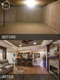 Want to remodel your basement but don't know where to start? Get basement id… Want to remodel your basement but don't know where to start? Get basement ideas with impressive remodeling before-and-afters from our expert to get inspired. Basement House, Basement Plans, Basement Bedrooms, Basement Renovations, Home Renovation, Home Remodeling, Basement Bathroom, Modern Basement, Basement Kitchenette