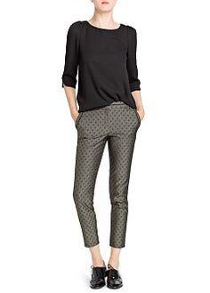 MANGO - VÊTEMENTS - Pantalons - Pantalon de costume jacquard losanges