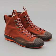 The Hill-Side - All-Weather High Tops, Waterproof Ventile Twill, Martian Soil - Old Factory, Minimalist Shoes, Natural Rubber, The Martian, Hiking Boots, High Tops, Combat Boots, Kicks, Weather