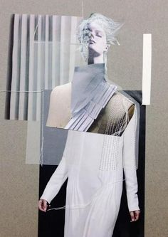 Fashion Sketchbook - fashion collage; fashion portfolio; creative process; fashion illustration // Marie Ly