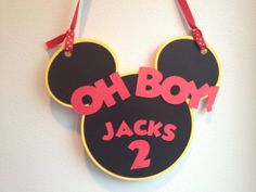 Oh Boy Mickey Mouse Party Door Sign, Mickey Mousse club house, Minnie Mouse Party, Disney Birthday, Mickey Mouse Baby shower.