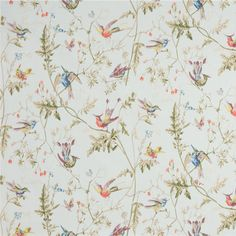 Hummingbird lichtblauw - Populair behang voor zowel moderne als klassieke interieurs. Uit de collectie New Contemporary II van Cole & Son Rollengte: 10 m Rolbreedte: 0,52 m Patroonhoogte: 0,54 m