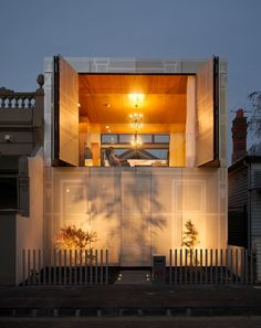 """Perforated House"" has translucent and operable walls; Kavellaris Urban Design"