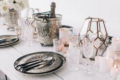 Table Styling / Monochrome Moroccan / Wedding Style Inspiration / LANE (instagram: the_lane)
