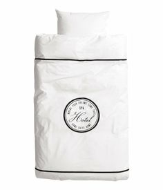 This duvet cover will remind you that a bedroom can also be like a hotel room (less the risk of bedbugs). From H&M Home.