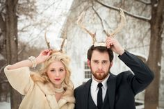 Vintage winter barn wedding by Erin Johnson Photography | Done Brilliantly