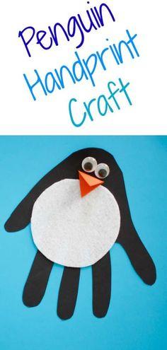 Easy Penguin Handprint Craft for Kids - The Chirping Moms