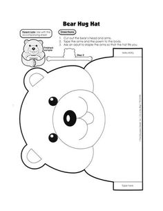 Bear hat hug 2/2 Can be a brown bear or a white polar bear