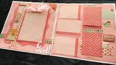 12x12 My Girl Scrapbook Page Kit, Girl-Themed Premade Scrapbook Page, Girls Scrapbook Page, DIY or Premade Pages, Scrapbook Layout