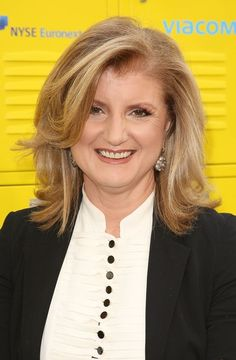 Arianna Huffington. I LOVE THIS WOMAN!!