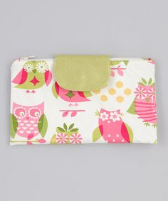 Take a look at this Pink & Green Hoot Owls Diaper Clutch by Caught Ya Lookin' on #zulily today! $19.99, regular 29.00