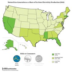 One of the Rating the States metrics looked at where natural gas is already a big part of in-state electricity generation.