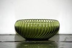Image result for green glass ribbed bowl Yard Sale Finds, Decorative Bowls, Glass, Green, Image, Home Decor, Decoration Home, Drinkware, Room Decor