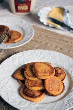 Vanilla Pancakes - coconut flour, eggs, water, vanilla extract, baking soda, salt