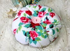 Jumbo Shabby Chic Pin Cushion From Vintage Cutter by FarmhouseRose