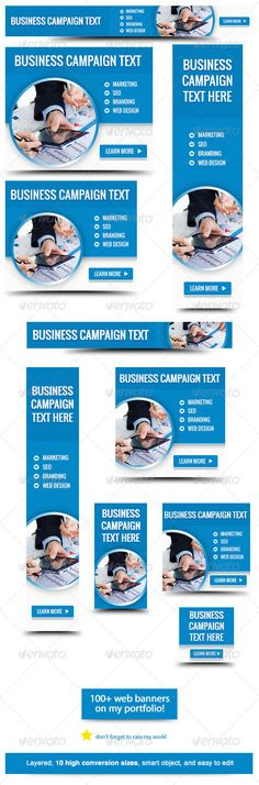 Use this web banner for your business campaign. Banner Sizes: 1, Leaderboard (728×90) 2. Banner (468×60) 3. Button (125×125) 4. Small square (200×200) 5. Wide skyscraper (160×600) 6. Skyscraper (120×600) 7. Vertical banner (120×240) 8. Large rectangle (336×280)