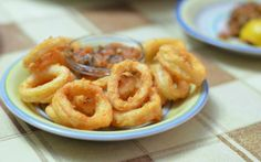 Moroccan Style Fried Calamari with Dipping Sauces: Fried Calamari with Tomato Sauce