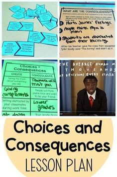 Choices and Consequences Lesson Choices and Consequences Lesson,~ ELEMENTARY HOMESCHOOL ~ Elementary School Counseling: Lessons I've learned and lessons I've created! Related Best Kids Books to Teach Social-Emotional Skills - The Organized Mom. School Counselor Lessons, Middle School Counseling, Elementary School Counselor, School Social Work, Elementary Schools, School Classroom, Virtual Counselor, Elementary Guidance Lessons, School Teacher
