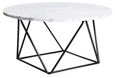 Cleo Coffee Table, White/Black on OneKingsLane.com