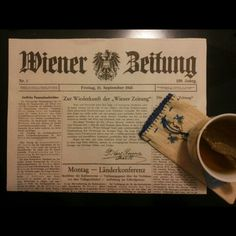 Wiener Zeitung Tableware, Newspaper, Dinnerware, Dishes, Place Settings