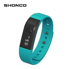 Fitness Tracker BraceletShonco I5 Waterproof Bluetooth Activity Tracker Smart Band Wristband with Sports Pedometer Health Sleep Monitor Calories Burned Counter for iPhone Android Phones  Blue *** Check out this great product. (Note:Amazon affiliate link)