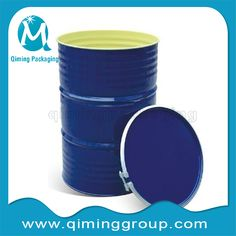 55 gallon or 200L steel drum with lids steel barrel-qiming packaging  (5)