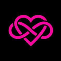 Love Forever Infinity Heart - Vinyl Decal