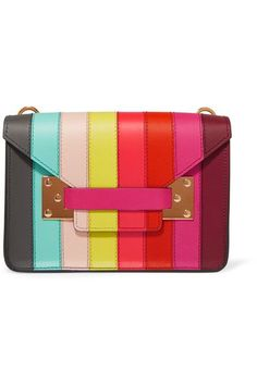 Multicolored leather (Calf) Tab-fastening front flap Comes with dust bag Weighs approximately 0.4lbs/ 0.2kg Made in Italy