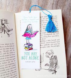 Printable Roald Dahl Bookmarks & Mini Tassel